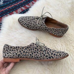 Dolce Vita leopard print oxford flat shoes lace up